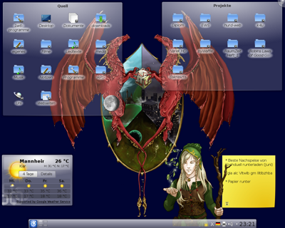 KDE 4.5 RC1 screenshot