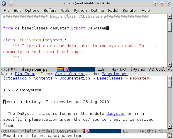 Read your python module documentation from emacs